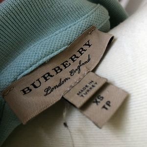 Burberry Tops - Burberry blue polo shirt sleeve top XS
